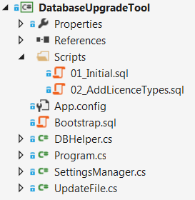 The structure of the upgrade tool